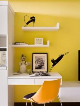 2016创意现代风格黄色书房欣赏