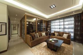 中式风格雅致黄色客厅装潢案例