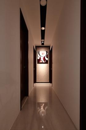 现代米色雅致艺术时尚过道装潢设计
