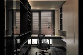 灰色精致时尚雅致现代风格书房装饰案例