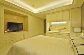 米色简约风格卧室衣柜装修设计图片