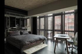 灰色时尚现代风格卧室装潢