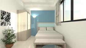 简约白色休闲卧室效果图