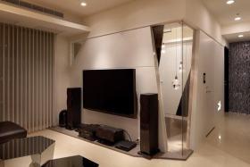 米色现代风格背景墙装修效果图