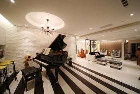 黑色大气时尚现代风格琴房图片欣赏