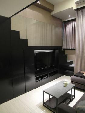 创意黑色现代背景墙装饰设计图片