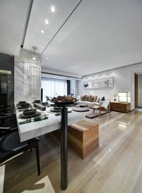 黑色简约风格餐厅桌椅效果图设计