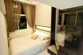 简约风格白色小卧室装饰设计图片