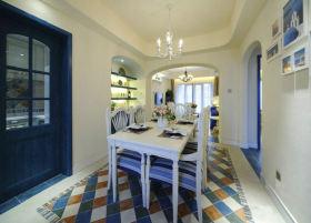 梦幻蓝色地中海餐厅设计