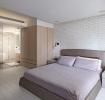 白色现代风格卧室床头背景墙设计赏析