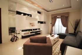 现代风格客厅黑白背景墙赏析