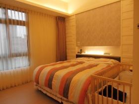 新古典风格橙色卧室图片赏析