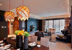 橙色个性美式风格餐厅吊灯设计欣赏