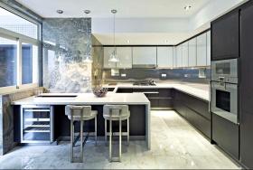 摩登现代黑色厨房欣赏