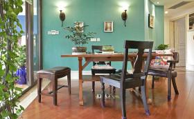 绿色摩登美式风格书房装潢效果图