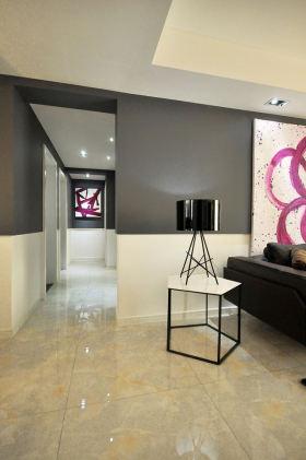 精致时尚现代黑色玄关装潢设计