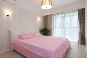 粉色现代风格卧室设计欣赏