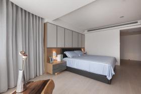 日式原木灰色卧室效果图欣赏