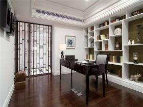 中式风格白色书房装饰图