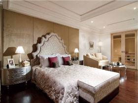 白色简欧风格卧室效果图