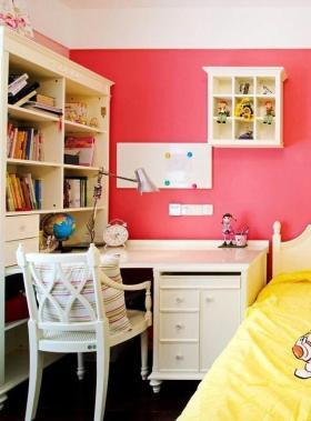 梦幻甜美混搭风格粉色书房效果图赏析