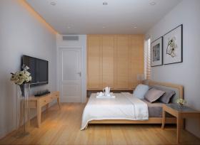 原木色宜家风格卧室衣柜效果图设计