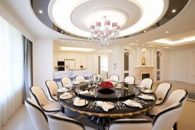 白色时尚欧式餐厅设计装潢