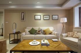 时尚混搭黄色客厅装修效果图片