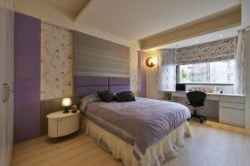 浪漫紫色美式卧室图片赏析
