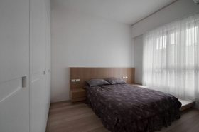 简约风格灰色卧室装修效果图片