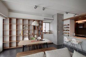 灰色北欧风格书房书柜效果图赏析