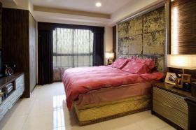 混搭红色现代卧室图片