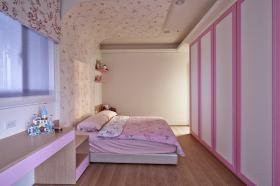 温馨现代风格粉色卧室设计图