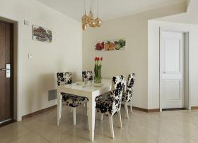 美式风格白色转角餐厅设计欣赏