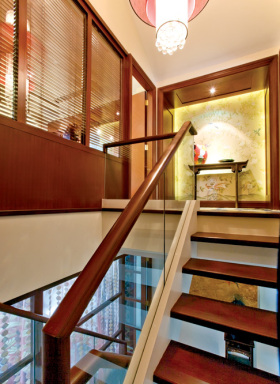 雅致中式风格楼梯装修图片欣赏