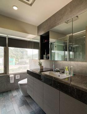 简约灰色大理石卫生间设计图片