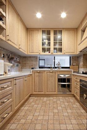 原木淡雅自然简约风格厨房装潢