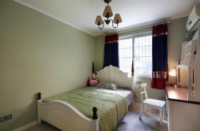 美式风格绿色卧室装修