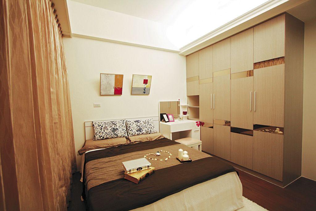 宜家风格复古褐色卧室装潢