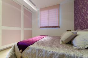 简欧风格粉色卧室窗帘设计