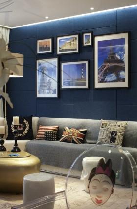 创意时尚混搭风格背景墙设计装修图片