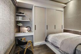 自然银灰时尚混搭风格卧室衣柜美图欣赏
