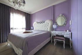 紫色浪漫温馨简欧风格卧室欣赏