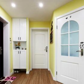 温馨甜美田园风格黄色玄关设计装潢