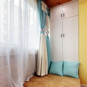 浪漫淡雅田园风格白色窗帘美图