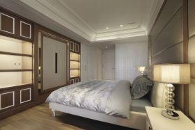灰色时尚现代风格卧室装修布置