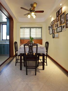 褐色东南亚风格餐厅装修图片欣赏