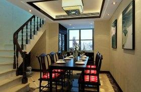 中式风格米色餐厅装修布置