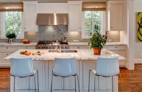 美式风格白色厨房橱柜美图欣赏