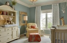 蓝色混搭风格儿童房装饰设计图片
